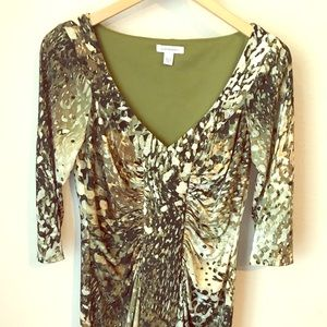 Boston Proper 3/4 Length Sleeve Dress